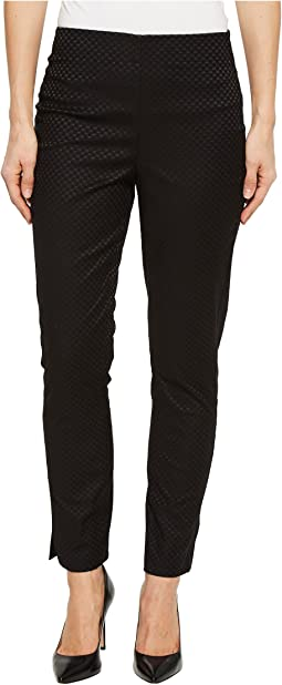 "Jacquard 28"" Pull-On Ankle Pants"