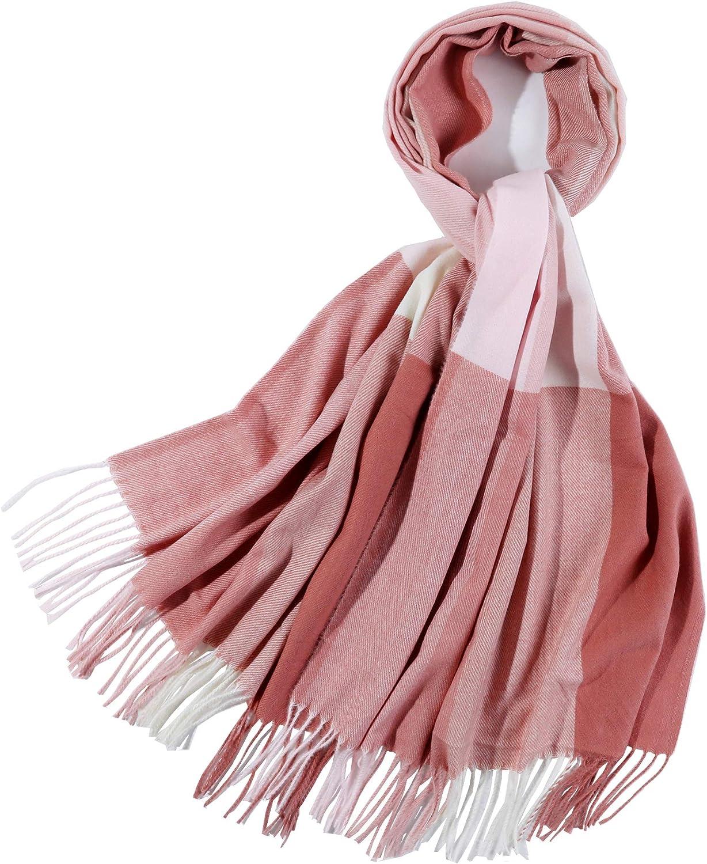 PINCTROT Chunky Large Blanket Scarf for Men Women Warm Cozy Plaid Tartan Wrap Super Soft Shawl Cape