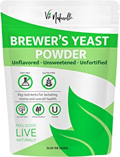 Brewers Yeast Powder - Organic Nutritional Yeast Powder & Active Yeast - Lactation Support & Lactation Supplement for Incr...