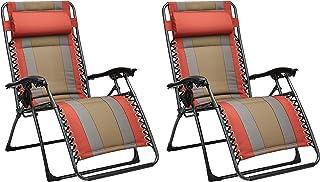 AmazonBasics - Set de 2 sillas acolchadas con gravedad cero