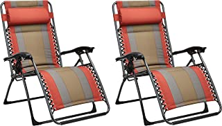 AmazonBasics Padded Zero Gravity Chair- Red, 2 Pack