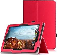MoKo Verizon Ellipsis 10 2015 Case - Premium PU Leather Slim Folding Stand Cover for Verizon Ellipsis 10-Inch 4G LTE Tablet (NOT FIT 2017 Verizon Ellipsis 10 HD), RED