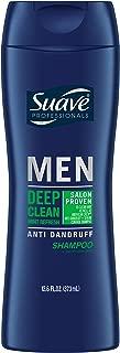 Suave Men Anti Dandruff Shampoo, Deep Clean Mint Refresh, 12.6 oz