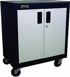 Homak 2 Door Mobile Cabinet with Gliding Shelf, Steel, GS04002270