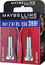 Maybelline Creamy Matte Touch of Spice & Rich Ruby (Pack of 2)