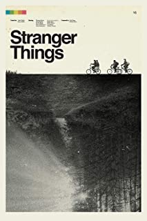 Stranger Things Retro Posters and Prints Unframed Wall Art Gifts 16x25
