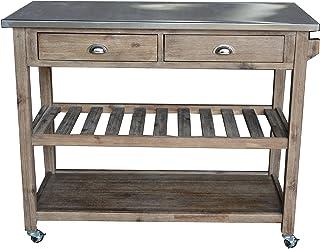 metal kitchen islands carts amazon com rh amazon com