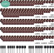 330 unidades de bandas de lijado de u/ñas y 24 mandriles de tambor Juego de lijadoras de tambores de lija de 354 piezas