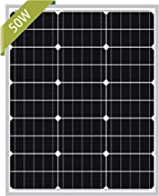 Newpowa 50W Mono Solar Panel 50 Watts Monocrystalline Module with 3ft MC4 Connectors for..