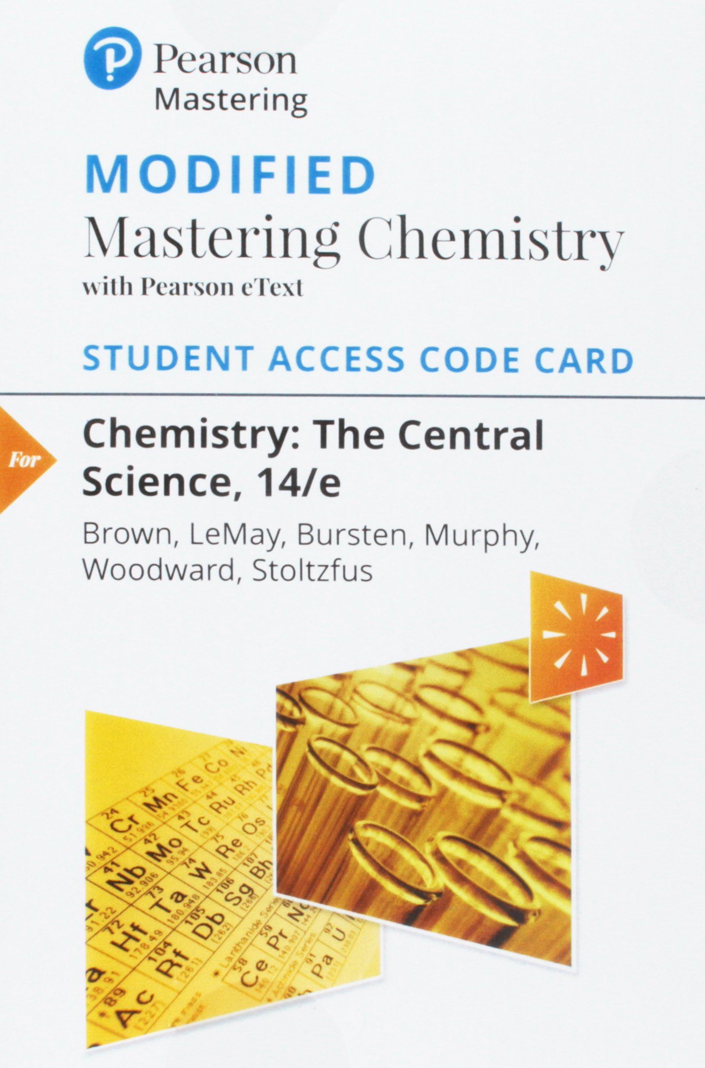 Image OfModified Mastering Chemistry With Pearson EText -- Standalone Access Card -- For Chemistry: The Central Science (14th Edit...
