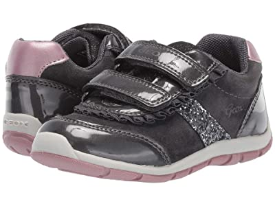 Geox Kids Shaax 22 (Toddler) (Black/Charcoal 2) Girls Shoes