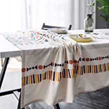 Tablecloth black and white printed coffee table cloth living room dining table cloth decoration waterproof oil-proof 140 *...