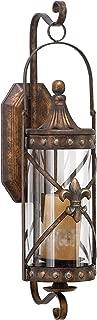 Deco 79 Rustic Fleur-de-Lis-Designed Metal Candle Sconce, 20