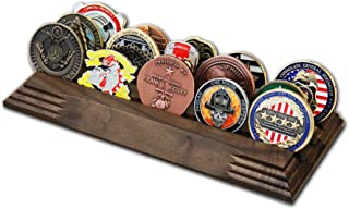 Best 3 Row Challenge Coin Holder - Military Coin Display Stand - Amazing Military Challenge Coin Holder - Holds 14-19 Coins 3 Rows Made in The USA! (Solid Walnut) Review