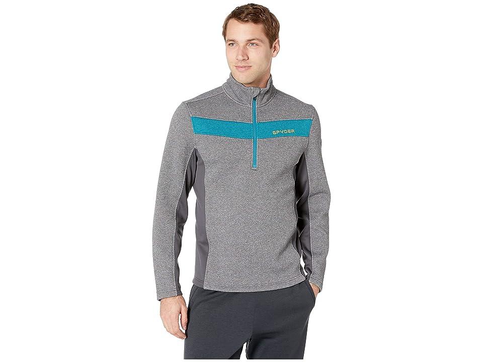 Spyder Encore 1/2 Zip Core Sweater (Ebony Grey) Men