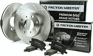 Friction Master Front Premium OE Brake Rotors and Ceramic Pads |FITS: 2012 2013 2014 2015 CHEVROLET TAHOE 4WD 4X4 2WD