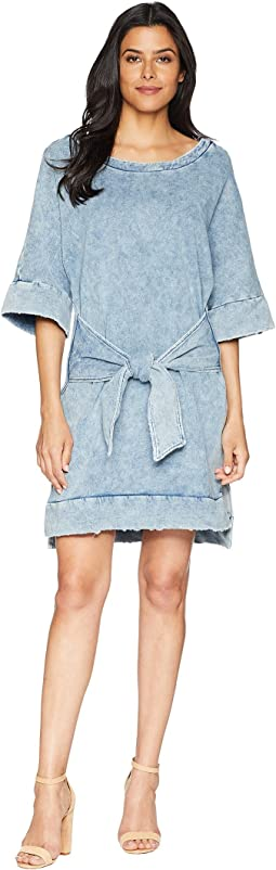 Kenneth Cole New York Kimono Sleeved Tie Front Dress