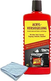 Number One   Acrylversiegelung, DIE NEUESTE Generation mit TÜV Rheinland Zertifikat und Nano Technologie 500 ml + 1 gratis Poliertuch