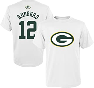 Outerstuff NFL Youth 8-20 Mainliner White Player Name and Number Jersey T-Shirt