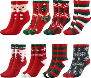 TUPARKA 8 pares calcetines de navidad Calcetines suaves para mujer Calcetines suaves de invierno (8 pairs Christmas socks)