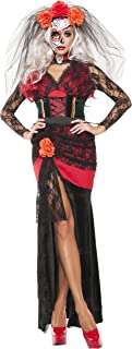 Women's Day Of The Dead Gown 4 Piece Sexy Costume Dress Set