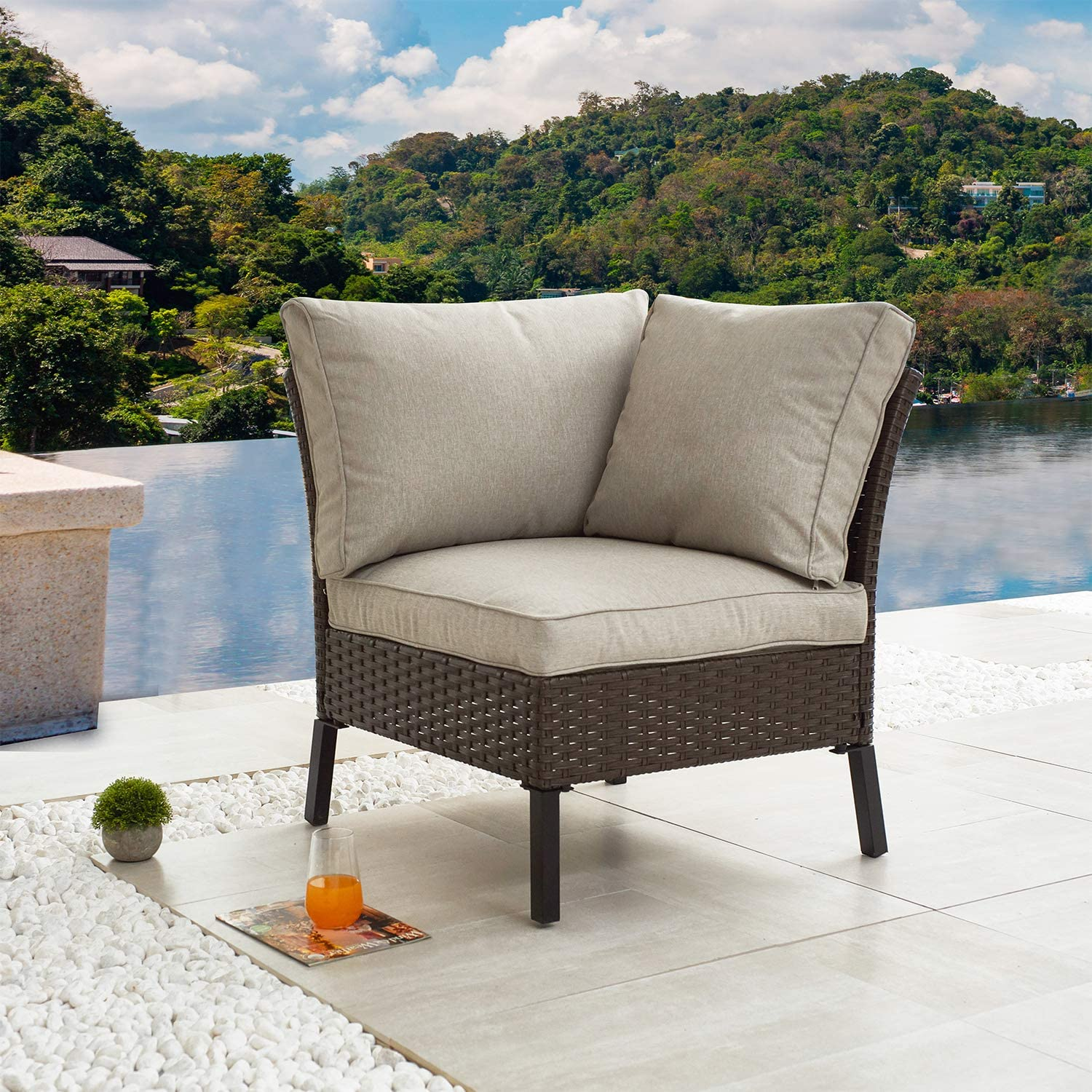 Festival SEAL limited product Depot Outdoor Patio Special sale item Conversation Corner Chair Sectional