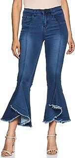 SLVETE Women's Denim Flared Jeans