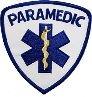 Paramedic EMT EMS Star Life Embroidered Patch Emergency Rescue Iron-On Ambulance