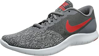 Nike Men's Flex Contact Running Shoes-Cool Grey/University Red-10.5