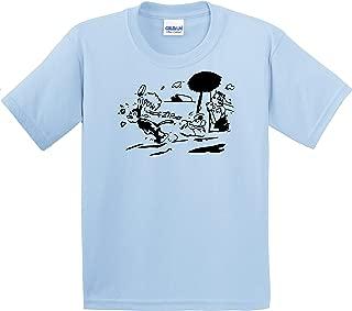 Krazy Kat Shirt Small Light Blue Gildan Men's Cotton Preshrunk Soft Tee