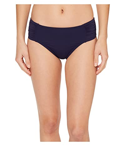 Tommy Bahama Pearl High-Waist Side-Shirred Bikini Bottom (Mare Navy) Women