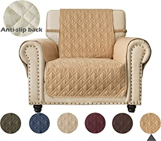 Ameritex Waterproof Nonslip Chair Cover for Leather, Dog Chair Cover Furniture Protector, Ideal Chair Slipcovers for Pets and Kids, Stay in Place (23