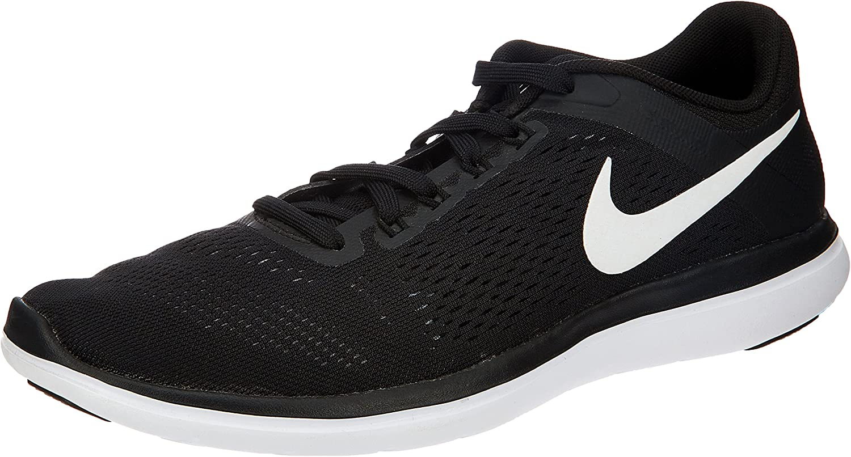 Nike Mens Flex RN 2016 Running shoes Black White Cool Grey Size 9.5