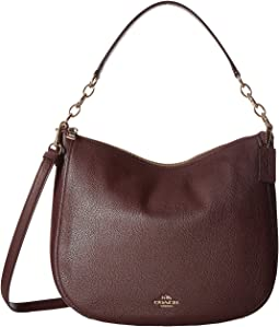 Polished Pebbled Leather Chelsea 32 Hobo