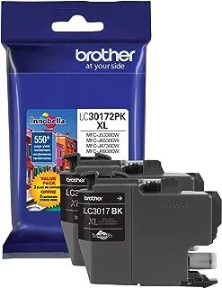 Brother Printer LC30172PK High Yield XL Black Ink Cartridge-2 Pack