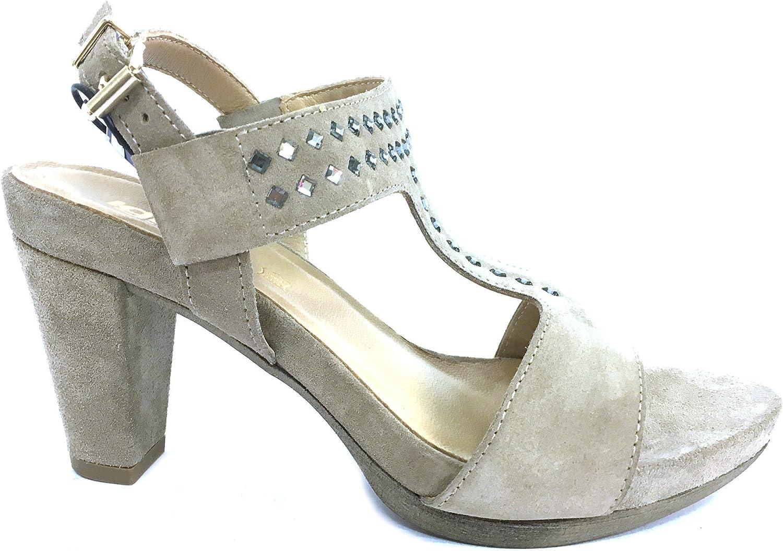 7852 VISONE Scarpa damen sandalo tacco Igi&co pelle pelle pelle made in   4eca21