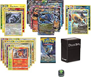 Pokemon EX Guaranteed with Booster Pack, 6 Rare Cards, 5 Reverse Holo Cards, 20 Regular Pokemon Cards, Deck Box and 1 Top ...