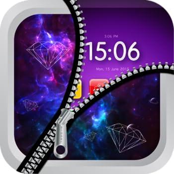 Diamond Zipper Lock   Shine Diamond Lock Screen