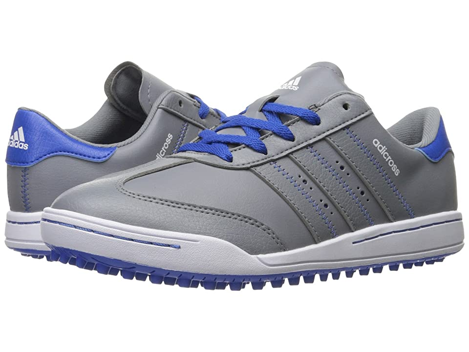 adidas Golf Jr. Adicross V (Little Kid/Big Kid) (Grey/Grey/Blue) Men