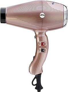 GAMMAPIU' Asciugacapelli Professionale Aria Dual Ionic Gold Rosè, Generatore Ionico, Phon Capelli, Leggero, Silenzioso e P...