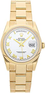 Rolex Day-Date Mechanical (Automatic) White Dial Mens Watch 118208 (Certified Pre-Owned)