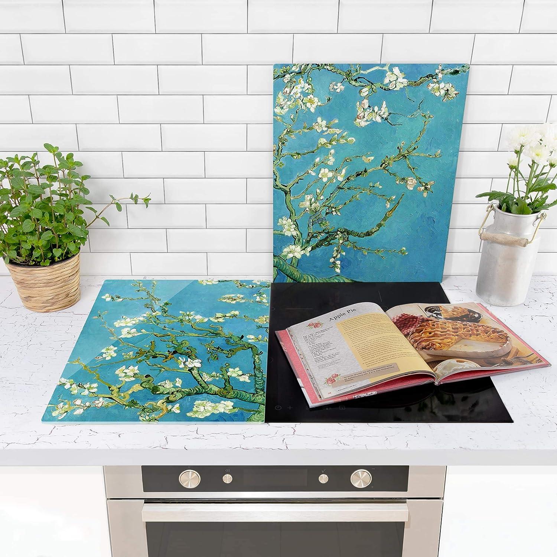 Tempered Glass Vincent Van Gogh Almond Blossom Bilderwelten Ceramic Hob Covers 52 x 80cm