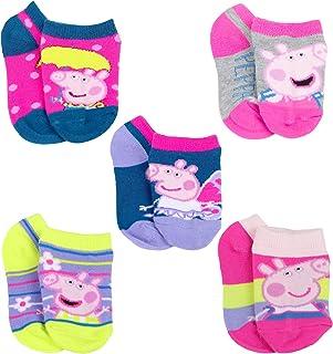 Peppa Pig Little Girl's 5 Pack No Show Socks