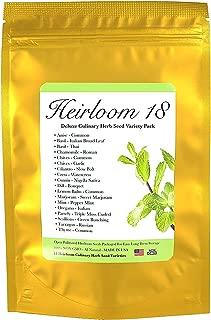 Heirloom Seed Pack with 18 Varieties of Culinary Herbs, Premium Seed Bank Gift for Gardeners by Heirloom Futures
