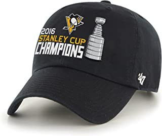 '47 NHL Pittsburgh Penguins 2016 Stanley Cup Champions Clean Up Adjustable Hat, One Size, Black