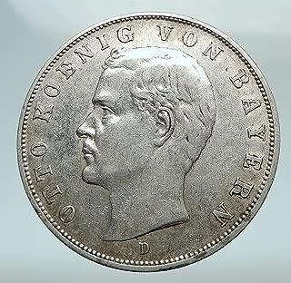 1909 DE 1909 GERMANY German States BAVARIA King OTTO AR 3 3 Mark Good Uncertified