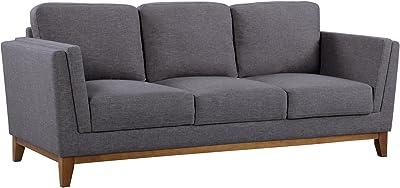 Amazon.com: Furniture of America Elsa Neo-Retro Sofa, Brown ...
