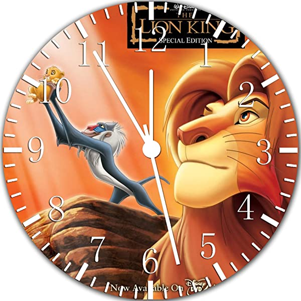 Borderless Lion King Frameless Wall Clock W331 Nice For Decor Or Gifts