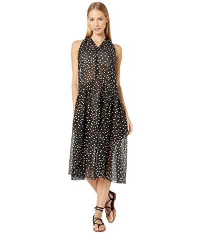 Stella McCartney Polka Dot Print Swim Maxi Dress (Black/Cream) Women