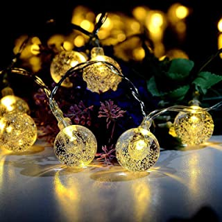 CMYK 2nd Globe String Lights, 20 Ft 30 Crystal Balls Waterproof LED Fairy Lights, Outdoor Starry Lights Solar Powered Stri...